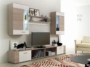 Wall unit tv stand tv set wall unit set living room for Modern set of living room furniture wall tv unit