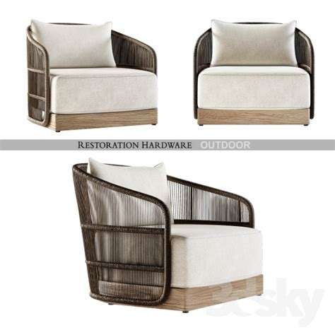 restoration hardware lounge chair 3dsmax balcony