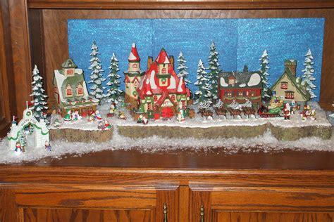 north pole village displays  enchanted manor
