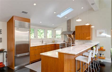 beautiful contemporary  shaped kitchen layouts home