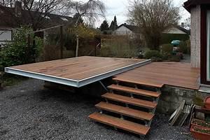 Support Terrasse Bois : terrasse bois structure acier diverses ~ Premium-room.com Idées de Décoration