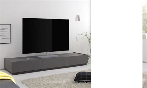 Banc Tv Gris by Banc Tv Blanc Ou Gris Laqu 233 Mat 3 Tiroirs Brick 3