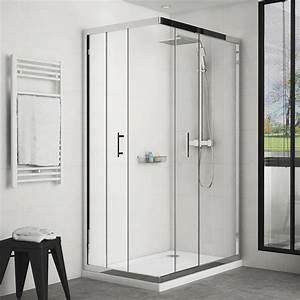 Cabine De Douche Angle : cabine de douche coulissante water 120x80cm acc s d 39 angle ~ Farleysfitness.com Idées de Décoration