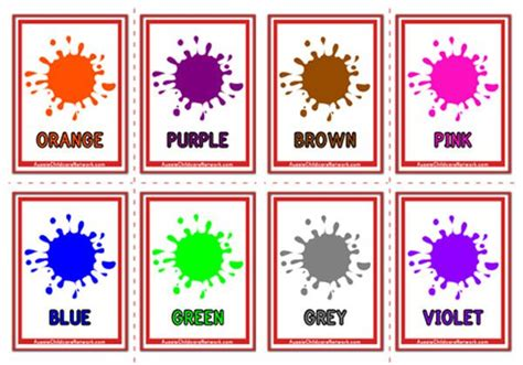 colours flashcards paint drops aussie childcare network