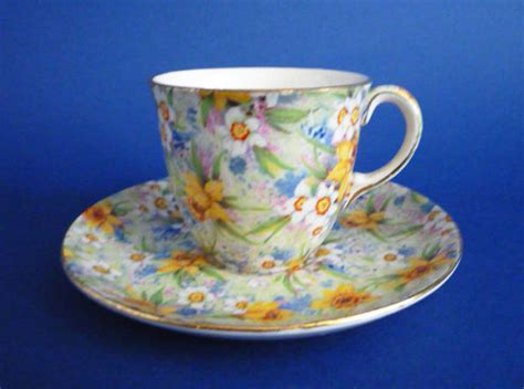 Rare Vintage 1930s Royal Winton Richmond Chintz Demitasse Coffee Cup and Saucer c1938 Sold