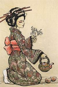 portrait poster canvas painting Japanese traditional art ...