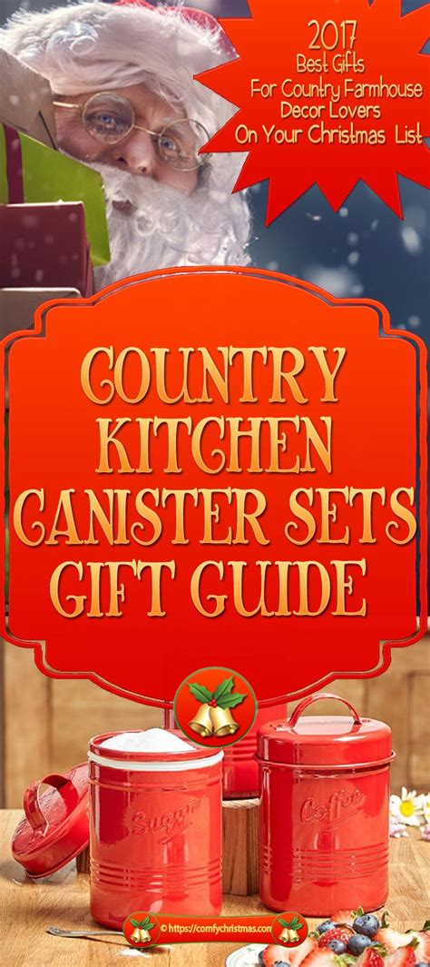 Country Canister Sets For Kitchen by Country Kitchen Canister Sets Gift For Country