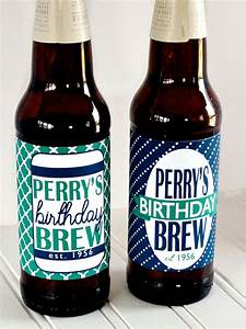 Custom printed birthday beer bottle labels for Custom printed beer bottles