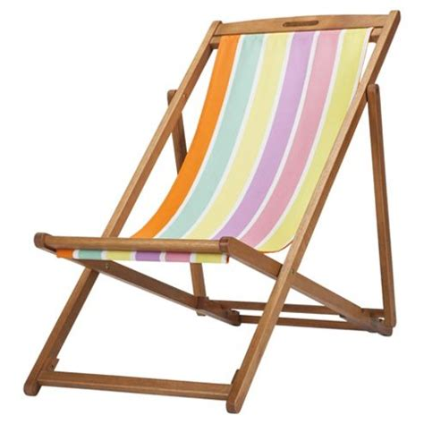 Electric Chair Plans by Buy Tesco Bright Stripe Wooden Deckchair From Our Garden