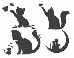 Stencils Crafts Templates Scrapbooking Cats Stencil No  4b