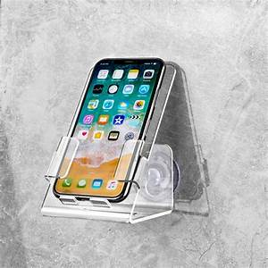 New, 1pc, Suction, Cup, Rack, For, Bathroom, Shower, Cell, Phone, Case, Stand, Holder, Caddy, Tray, Mount