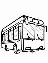 Bus Coloring Cartoon Pages Clipart sketch template