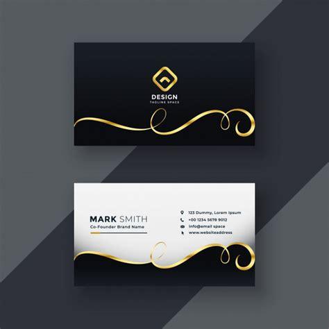 vector premium business card design  dark theme