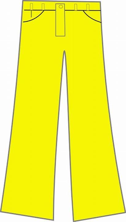 Pants Pant Clipart Clip Cliparts Yellow Downloads