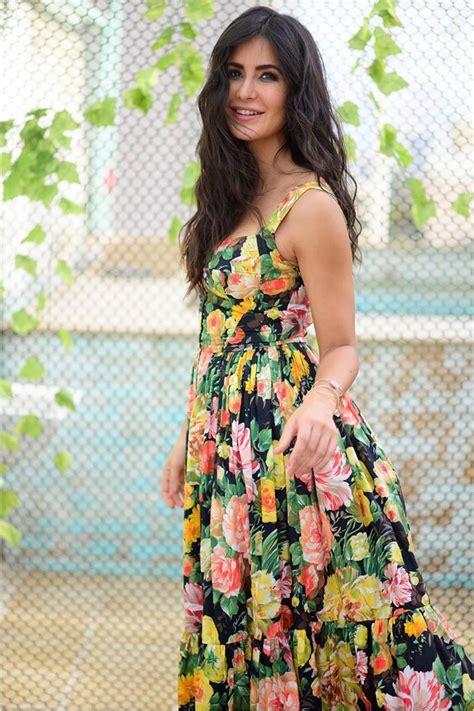 katrina kaif styled  printed dress  delicate