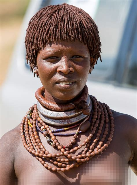 hamar tribe ethiopian woman  characteristic hairstyle