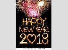 Happy New Year 2018 Word Made Stock Foto 508243678