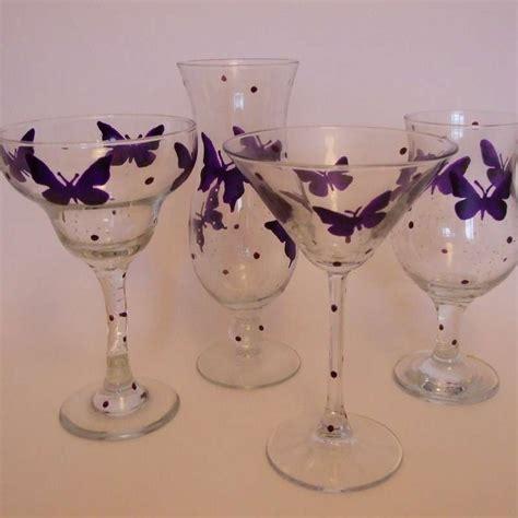 decorare bicchieri di vetro bicchieri decorati fai da te foto tempo libero