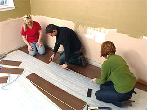 how to lay a laminate floor install laminate flooring hgtv