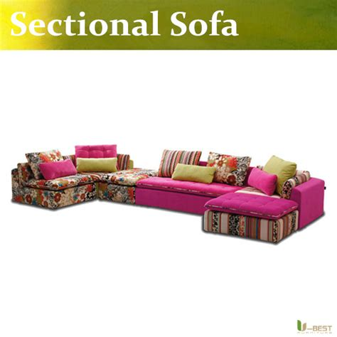 u best modern pink fabric sofa sectional set living room furniture sectional sofa