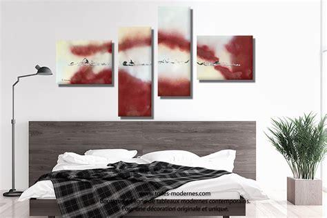 tableau chambre à coucher tableau bordeaux gris grande décoration murale panoramique