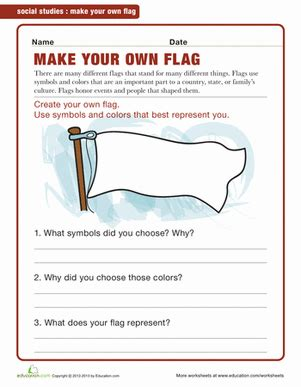 make your own flag homeschooling social studies
