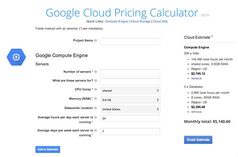 cloud calculator cloud platform cloud platform pricing