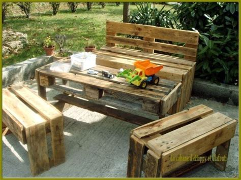 salon de jardin palette dunlopillo salons de jardin faits avec des palettes en bois