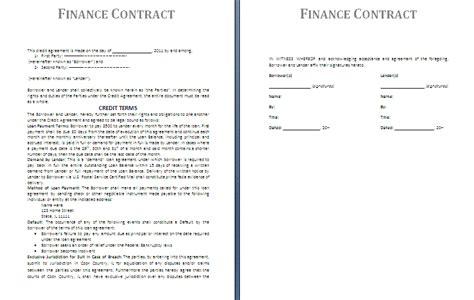 Owner Financing Contract Template - Costumepartyrun