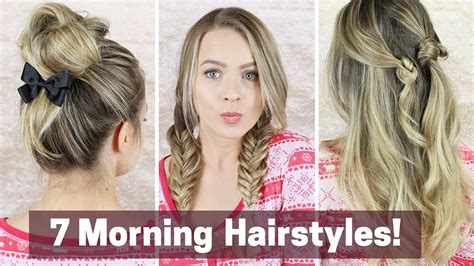 7 Quick Morning Hairstyles YouTube