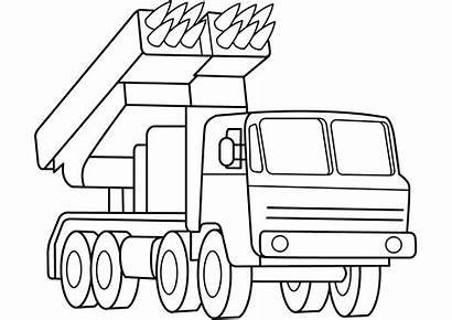 Coloring Pages Rocket Launcher Multiple Army Missile