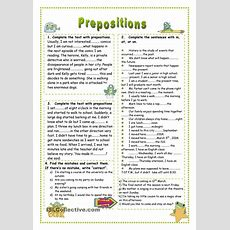 17 Best Images About Prepositions On Pinterest  Christmas Worksheets, Simple Sentences And