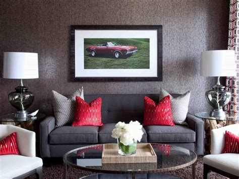 decorate a living room grey and red living room dgmagnets com