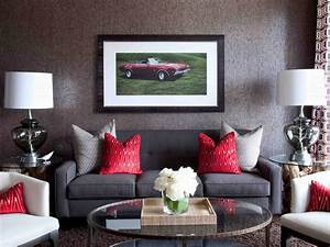 Grey and red living room dgmagnetscom for Gray and red living room interior design