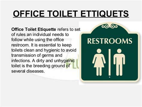 toilet with bathroom etiquette
