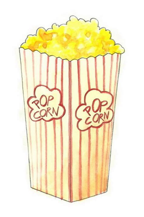 draw popcorn  steps  pictures wikihow