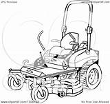Mower Lawn Cartoon Ride Clipart Vector Illustration Lawnmower Template Royalty Lafftoon Coloring Pages Sketch Law sketch template