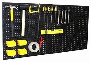 Wallpeg, 3, Black, Plastic, Pegboard, Panels, U2013, 72, U201d, Wide, Garage, Tool, Pegboard