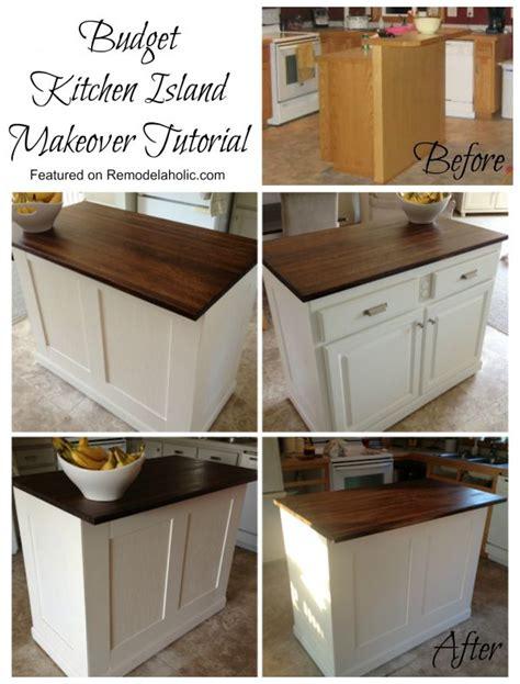 kitchen island makeover remodelaholic budget board and batten kitchen