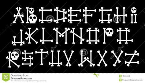 Bones Alphabet Stock Photo