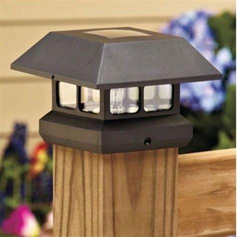 solar lights for decks post cap deck patio solar post cap light outdoor lighting eco