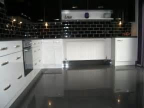 Floors By Steve by Using High Gloss Tiles For Kitchen Is Good Interior