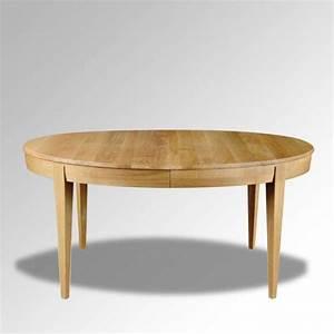 Table Extensible Bois Massif : table en bois massif ovale extensible moderne mo 4 ~ Teatrodelosmanantiales.com Idées de Décoration