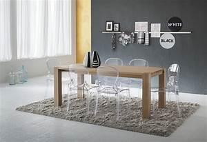 Chaises transparentes pour une salle a manger contemporaine for Salle À manger contemporaine avec chaises salle À manger transparentes