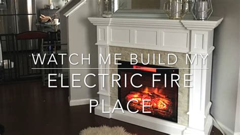 build  electric fireplace youtube