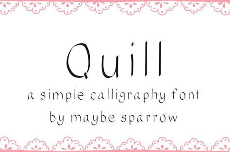 quill font sans serif fonts  creative market