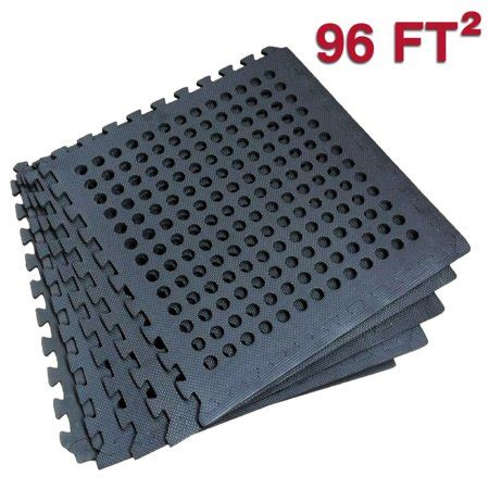 foam tiles walmart clevr foam flooring interlocking mat w drain holes 96
