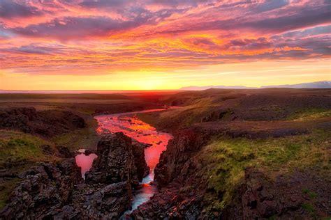 iceland sunset  epic sunset  iceland