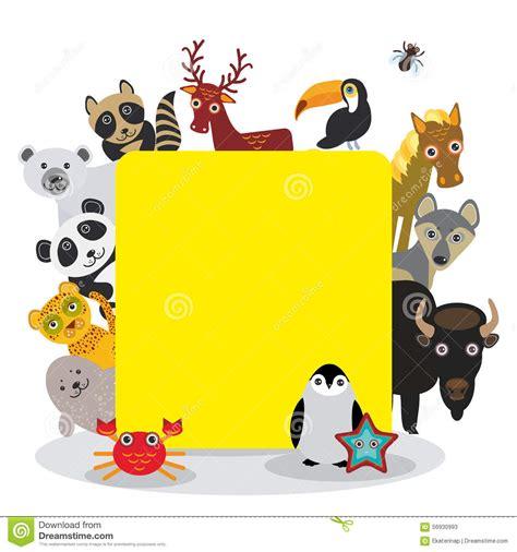 cute cartoon animals set toucan deer raccoon horse wolf