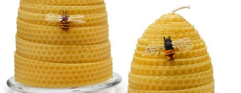 beehive candles   real beeswax  green head